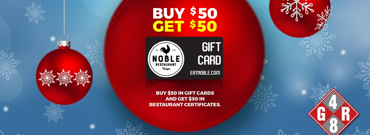 noble restaurant gift card promotion